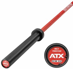 Bild von ATX Cerakote Multi Bar Fire Red- Langhantelstange in Fire Red
